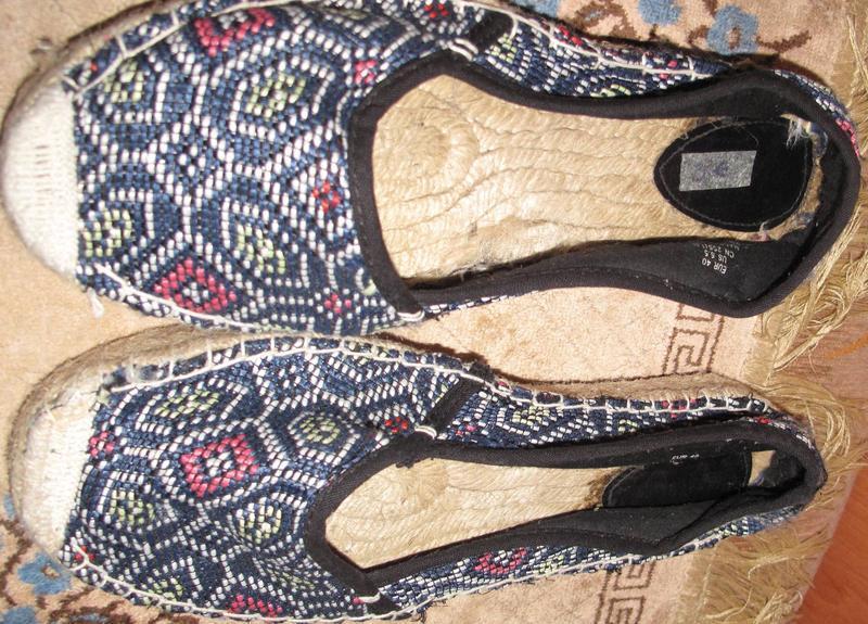 Сині мокасини р40 текстиль - Фото 4