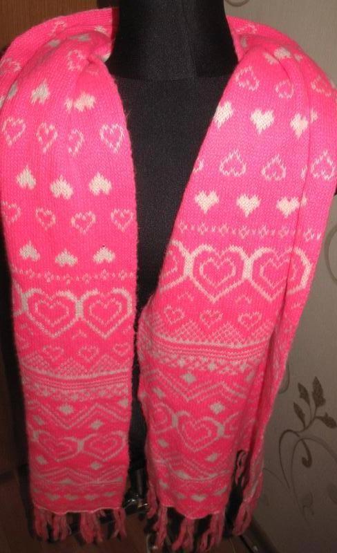 Оригінальний рожевий шарф  сердечка frost french