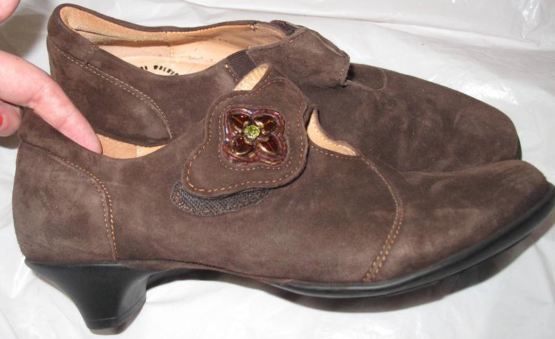 Коричневі туфлі think р36,5 замша