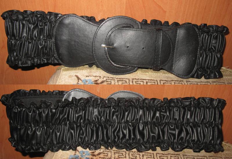 Чорний пояс жатка еко шкіра