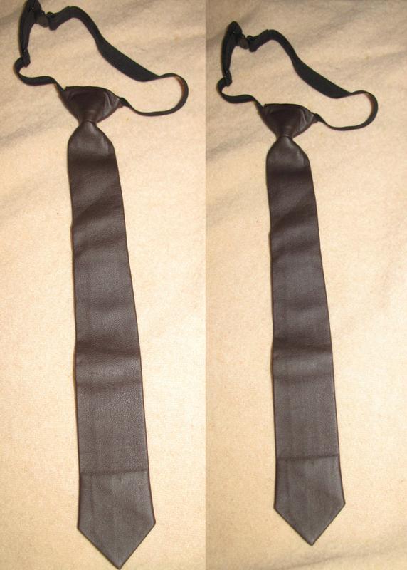 Коричнева краватка h&m еко шкіра