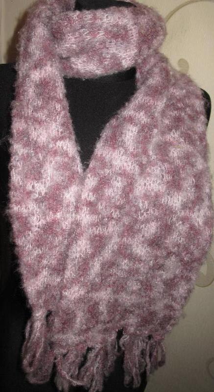 Рожевий теплий шарф per una