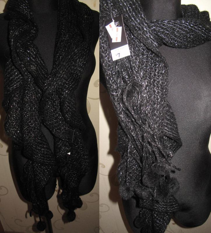Чорний теплий шарф f&f новий бірки