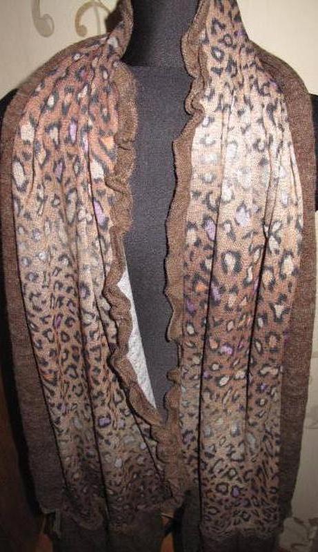 Леопардовий коричневий шарф