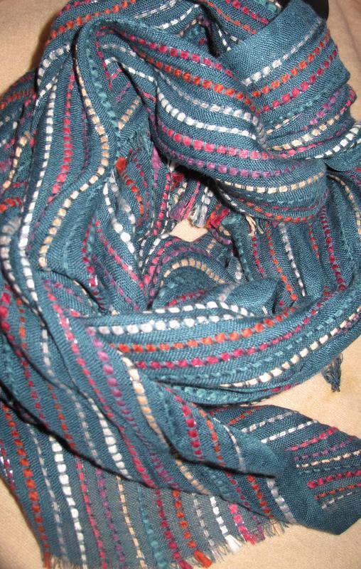 Оригінальний  бірюзовий шарф fat face