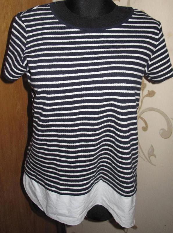Синьо біла футболочка полоска р42 m&s