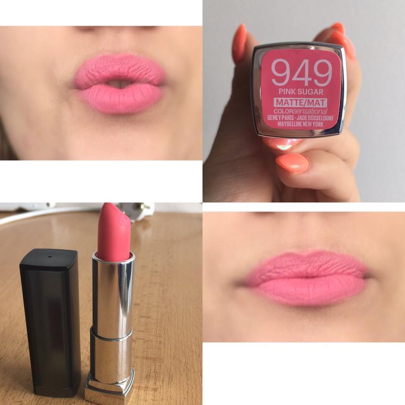 Помада для губ maybelline  matte №949 pink sugar