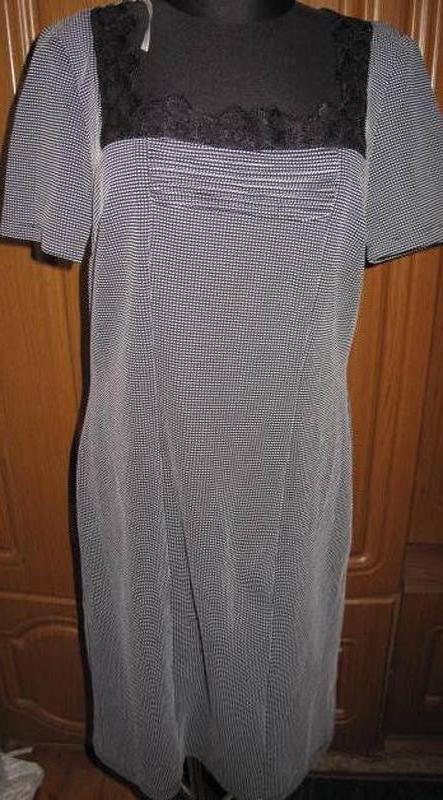 Сіра елегантна сукня defile lux р48 нова