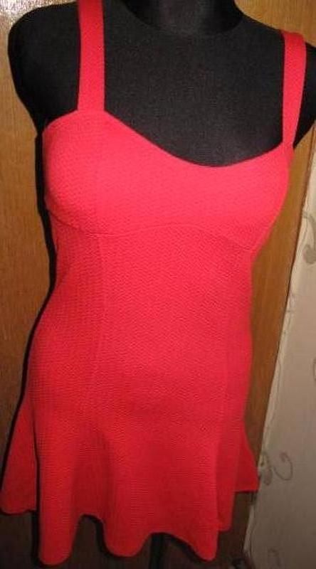 Червона міні сукня h&m s нова бірки