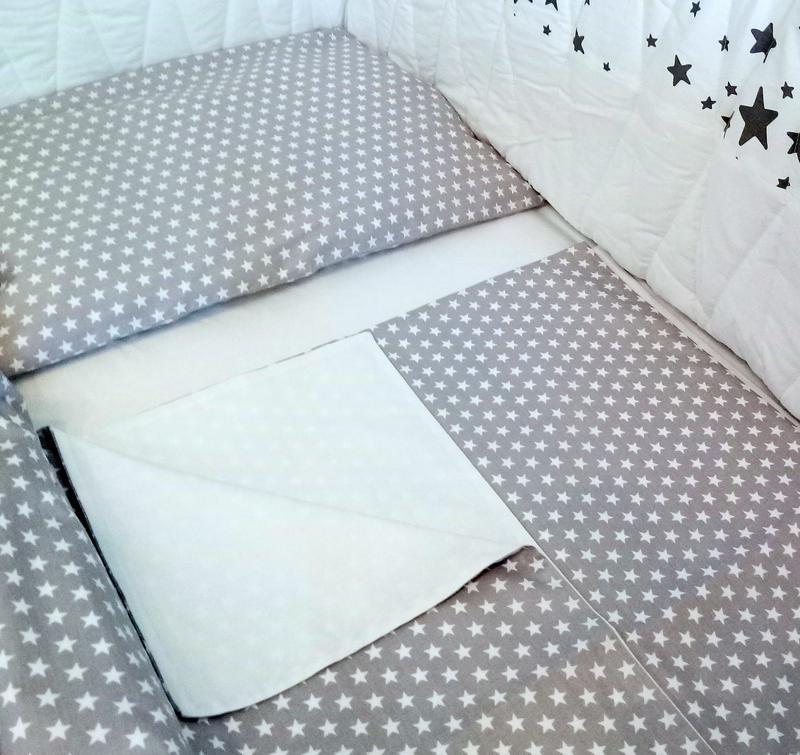 Постельное белье в детскую кроватку сатин