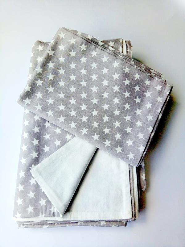 Постельное белье в детскую кроватку сатин - Фото 3