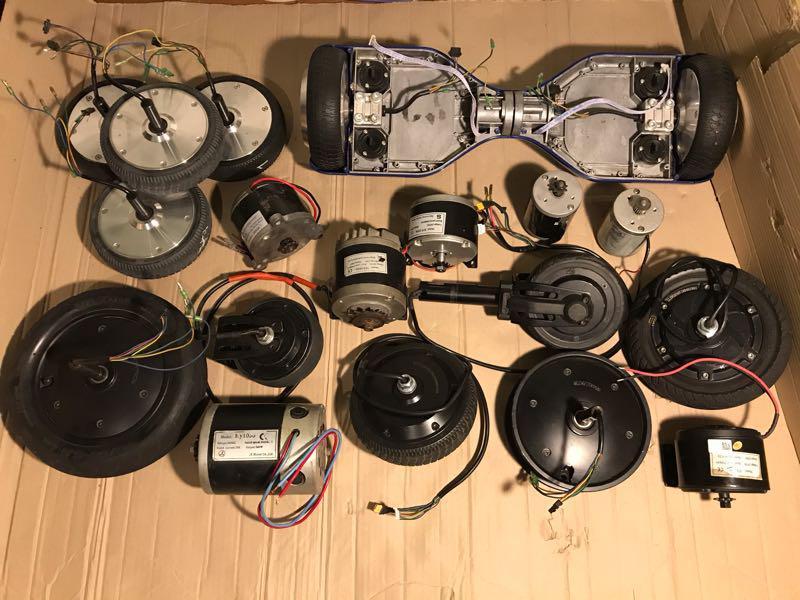 Электродвигатели 24-36v (мотор-колеса) разные цены