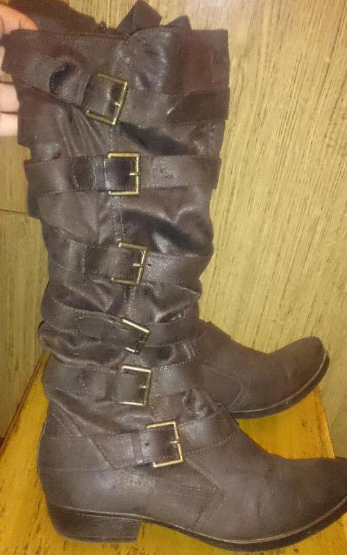 Стильні коричневі чоботи р40 graceland