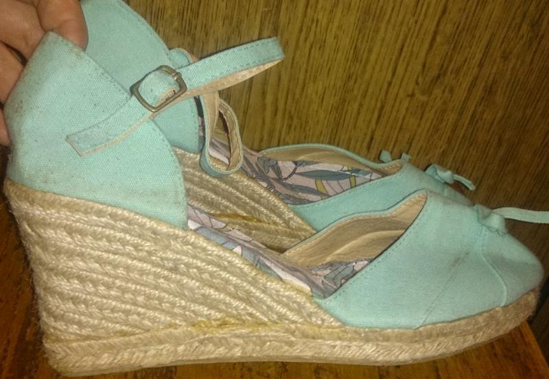 Стильні голубі босоніжки текстиль р39 нові
