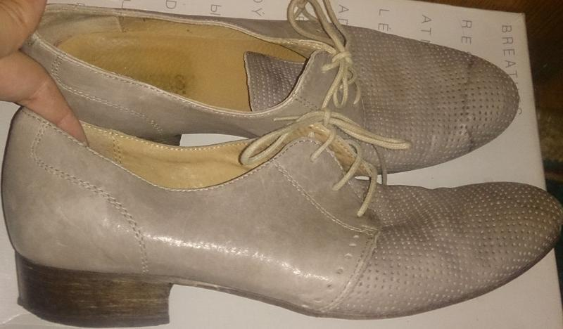 Стильні сірі туфлі р39 завязка шкіра