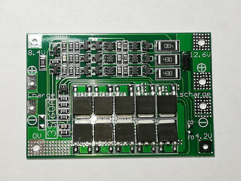 BMS Контроллер 3S Li-Ion 18650 12.6V 60A