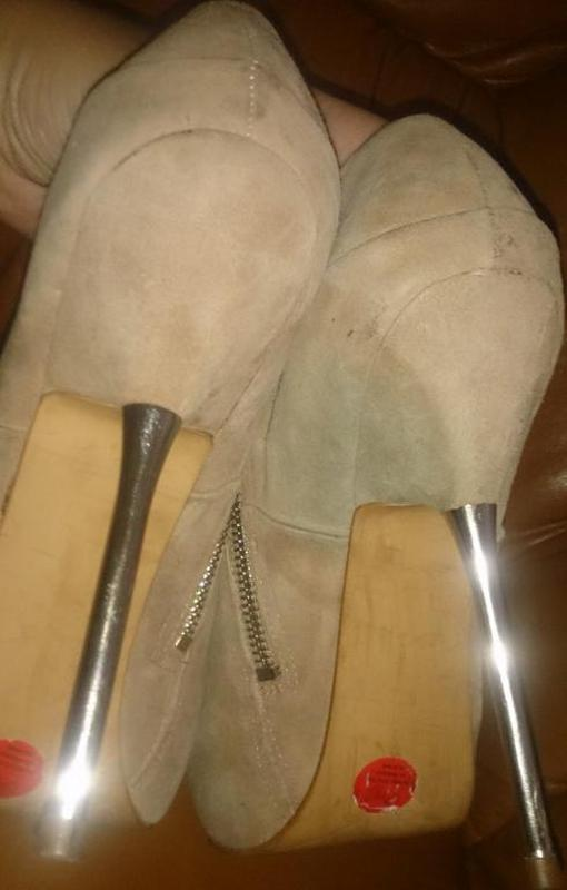 Стильні чорні туфлі р40 kg еко замша - Фото 5