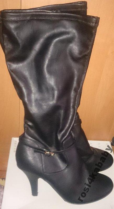 Стильні чорні чоботи р40