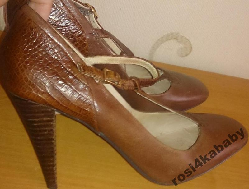 Стильні коричневі туфлі шкіра р37,5 mands