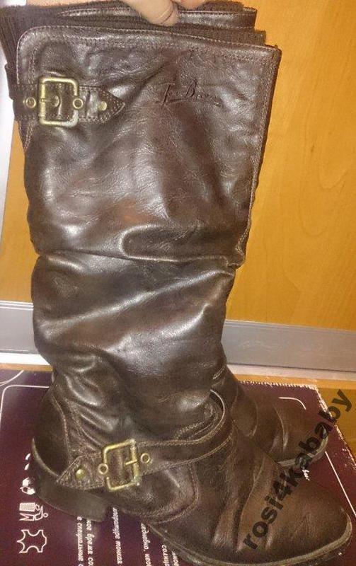 Стильні коричневі чоботи joe brown р38