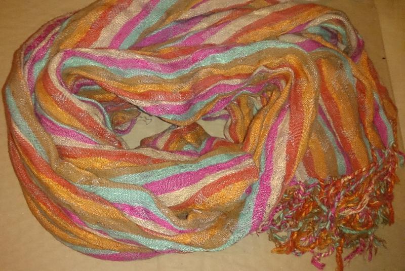 Стильний шарф полоси