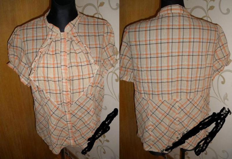 Бежева блуза з бантом george р50