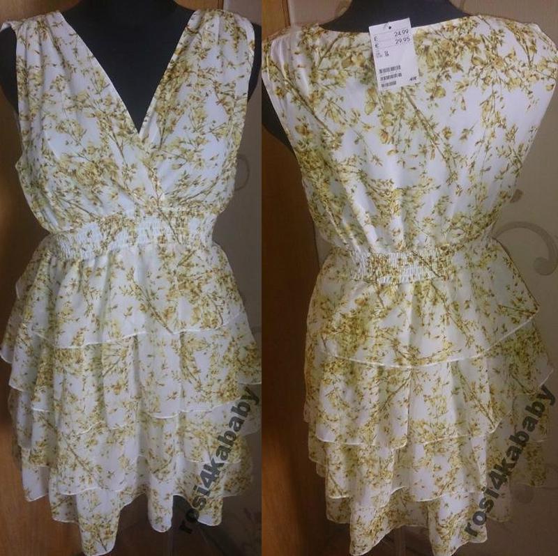 Яскраве стильне жовте плаття h&m р38 нове