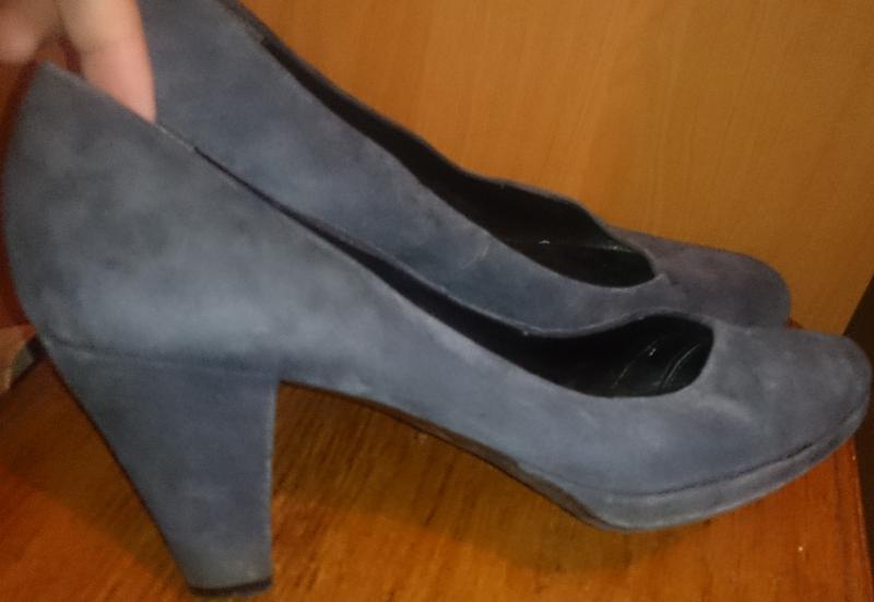 Стильні сині туфлі замша р40 di capolavori