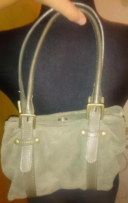 Стильна зелена сумочка замша accessorize