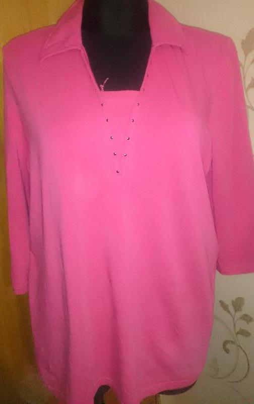 Стильний рожевий топ roberto sartо р46