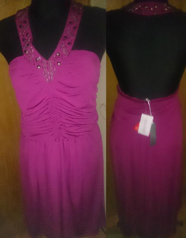 Стильна рожева сукня оздоба нова бірки р48 south