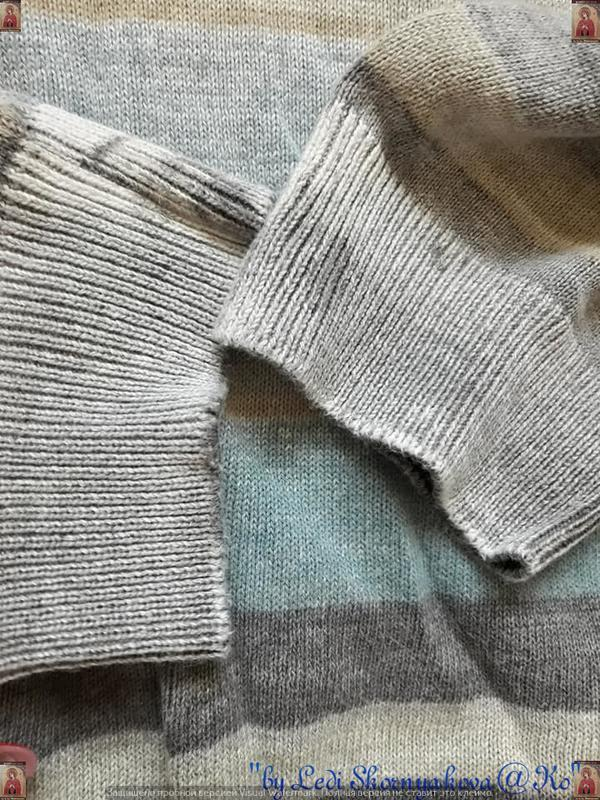 Фирменный orchestra  свитер со 100% хлопка  в полоску с принто... - Фото 4