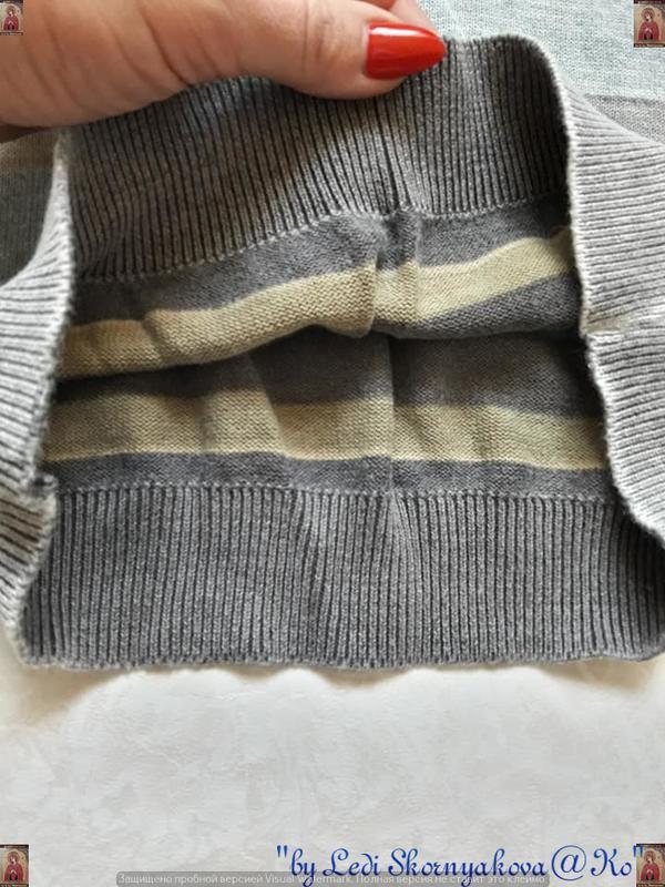 Фирменный orchestra  свитер со 100% хлопка  в полоску с принто... - Фото 5