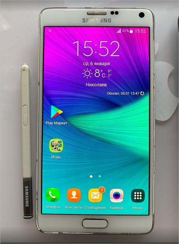 Смартфон Samsung Galaxy Note 4 SM-N910 8-Ядер , 32Gb Oригинал 16M