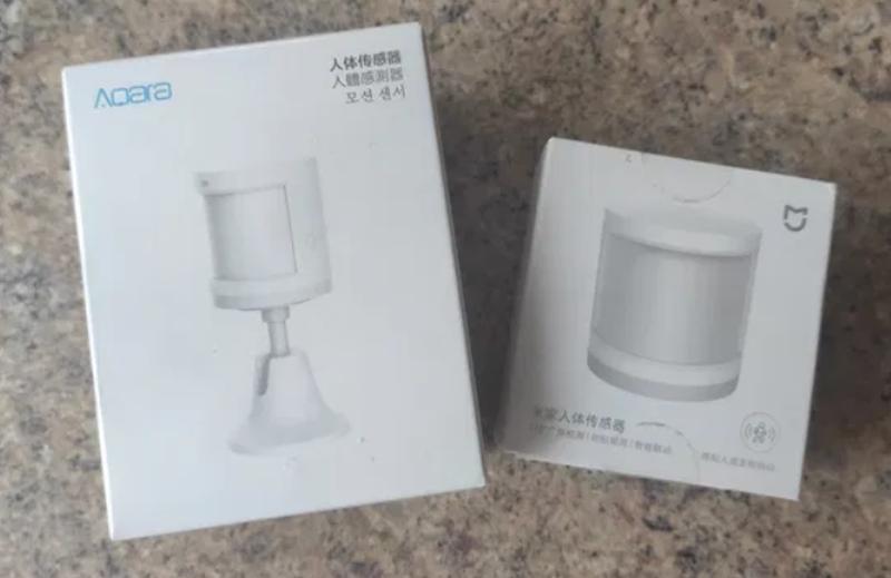 Датчик движения Xiaomi Aqara и Xiaomi Smart Human Body Sensor YTC
