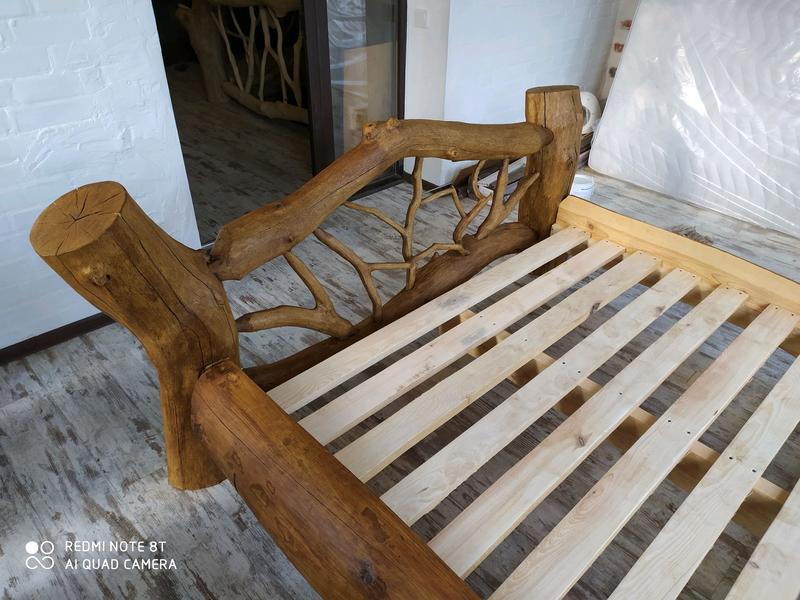 Кровать из натурального дерева сосны. - Фото 5