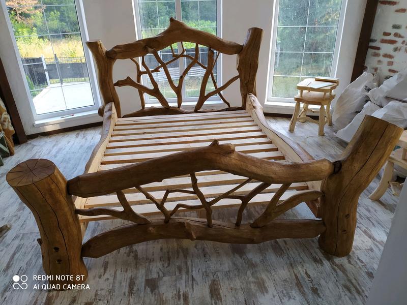 Кровать из натурального дерева сосны. - Фото 6