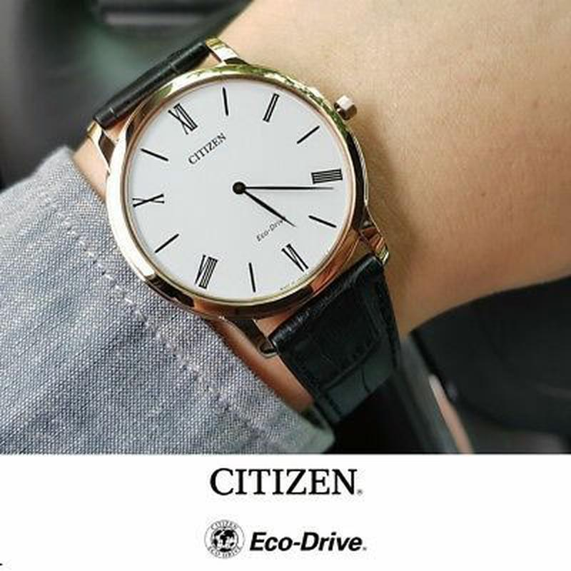 Мужские часы Citizen Stilleto Eco-Drive Ultra Thin AR1113-12B - Фото 3