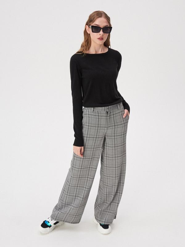 Новая базовая однотонная длинная черная кофта свитер джемпер п...