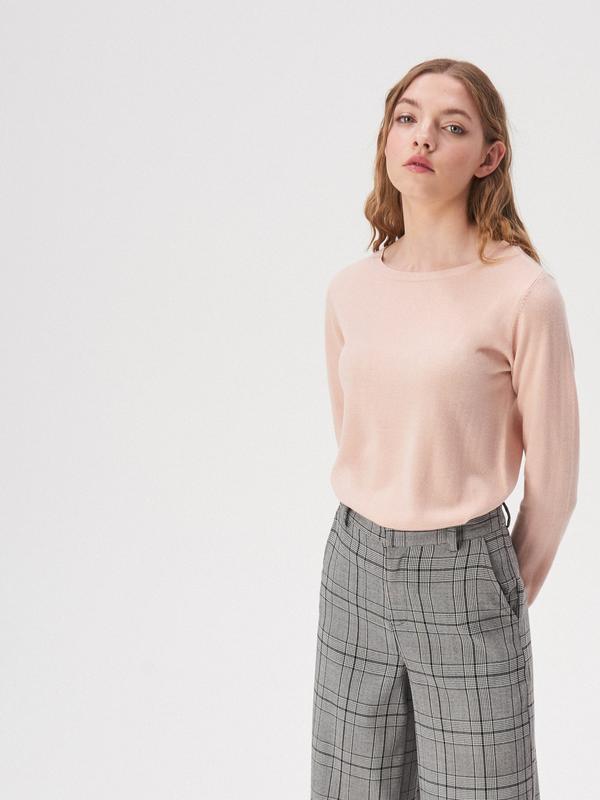 Новая длинная бежевая розовая светлая пудра кофта свитер польш...