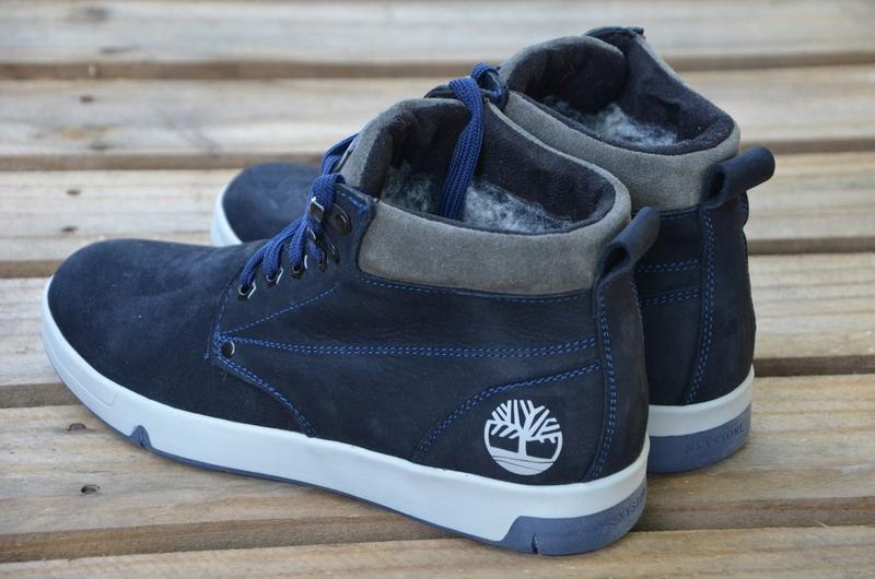 Натуральный нубук зимние мужские кожаные ботинки