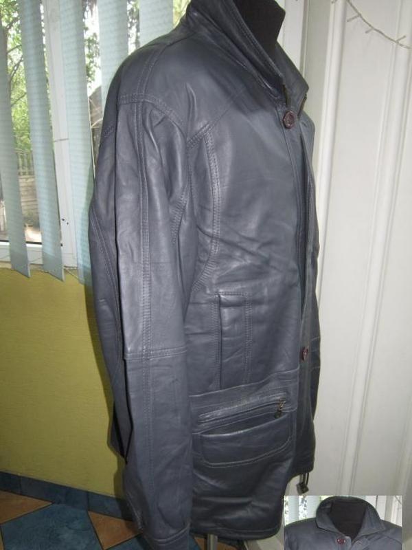 Большая кожаная мужская куртка gazelli creation. италия. лот 558