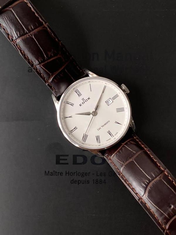 Мужские наручные часы edox les vauberts data, новые и оригинал...