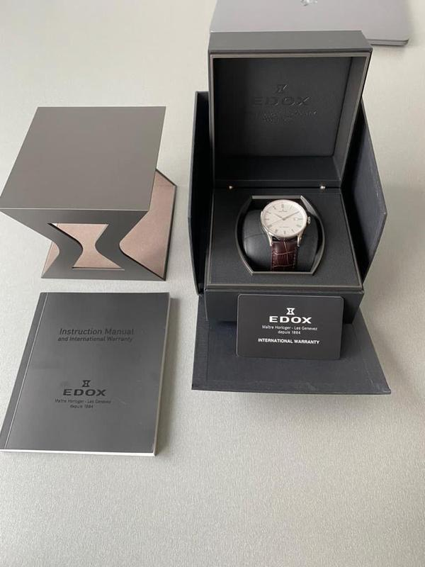 Мужские наручные часы edox les vauberts data, новые и оригинал... - Фото 2