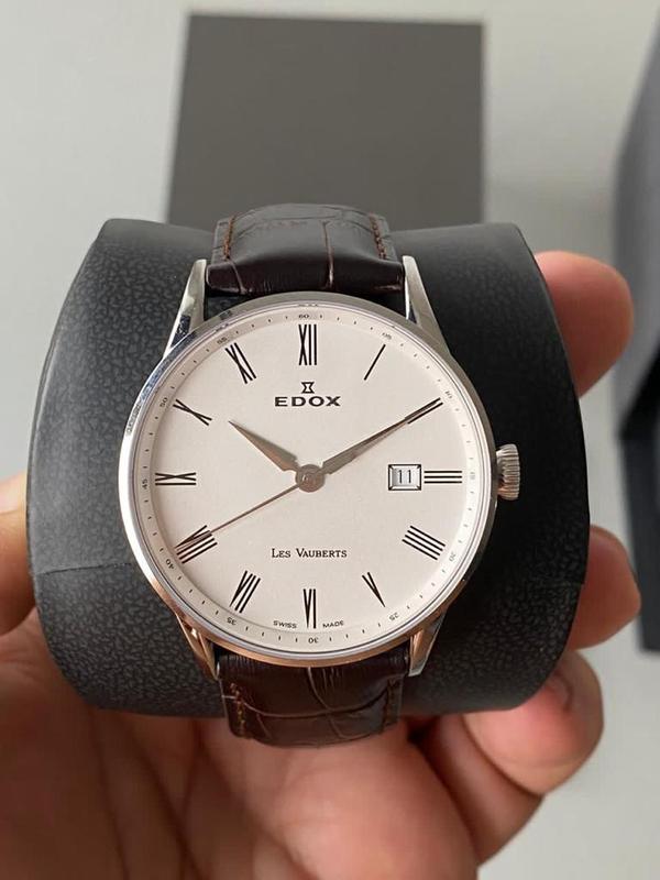 Мужские наручные часы edox les vauberts data, новые и оригинал... - Фото 3