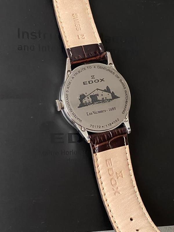 Мужские наручные часы edox les vauberts data, новые и оригинал... - Фото 5
