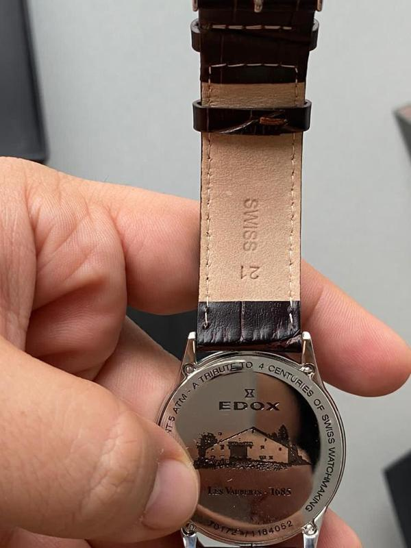 Мужские наручные часы edox les vauberts data, новые и оригинал... - Фото 6