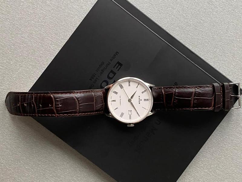 Мужские наручные часы edox les vauberts data, новые и оригинал... - Фото 8