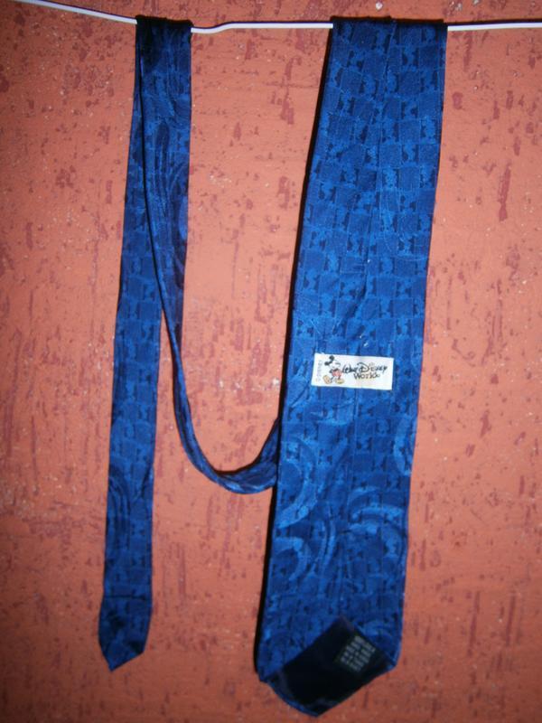 Интересный синий галстук с мики  маус шелк disney - Фото 2