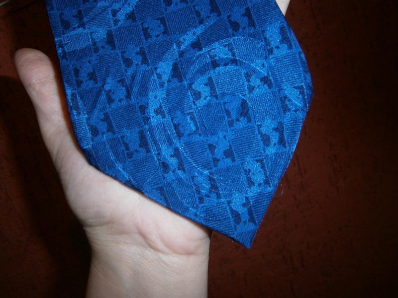 Интересный синий галстук с мики  маус шелк disney - Фото 3
